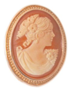 """Amedeo 1980 Shell Cameo Ring Amedeo """"Colombina"""" Huge Oversized Design Ring"""