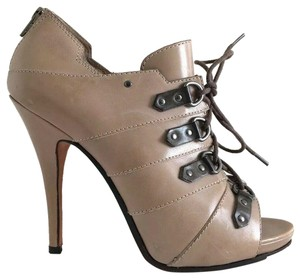 Jean-Michel Cazabat Lace Up Back Zip Taupe Pumps
