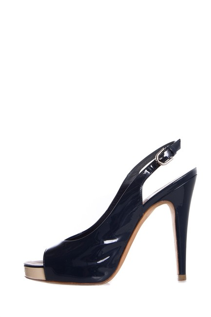 Item - Navy Patent Leather Heels Pumps Size EU 38 (Approx. US 8) Regular (M, B)