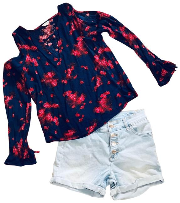 Item - Girls Acid Wash Button Fly Jean Shorts Size OS (one size)