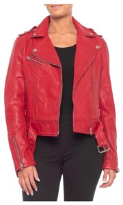 Soia & Kyo red Leather Jacket