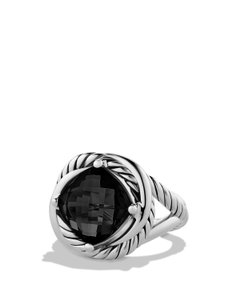 David Yurman David Yurman 11mm Black Onyx Sterling Silver Infinity Ring Size 7
