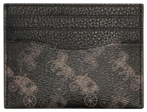 Coach NEW COACH men signature Horse And Carriage credit card case holder