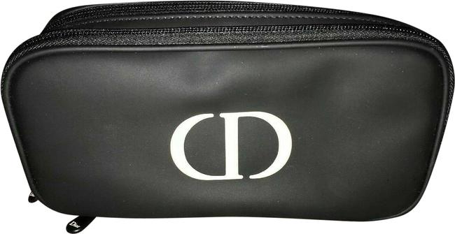 Item - Black and White Christian & Faux Leather Makeup Case Cosmetic Bag