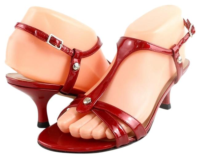 Item - Red Steer Patent Leather T-strap Sandals Size US 6 Regular (M, B)
