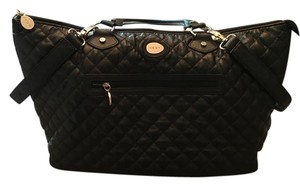 NEST Quilted Black Diaper Bag