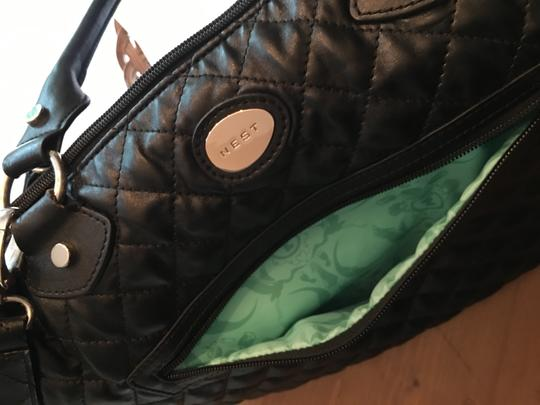 NEST Quilted Compartments Black Diaper Bag