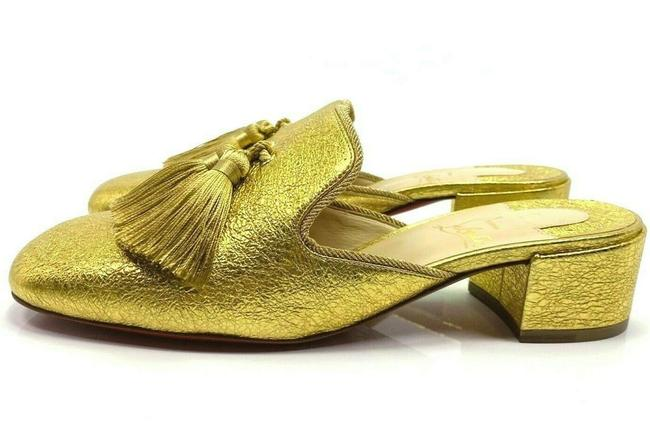 Item - Gold Barry 35 Specchio Slippers Heels Mules/Slides Size EU 38 (Approx. US 8) Regular (M, B)
