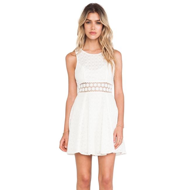 Item - White Daisy Waist Fit and Flare Night Out Dress Size 0 (XS)