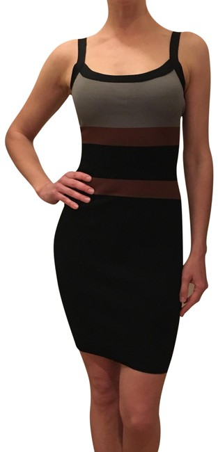 Item - Black/Gray/Brown Mid-length Night Out Dress Size 2 (XS)