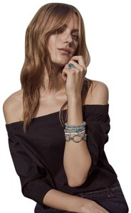 Lagos Lagos Maya Fluted Caviar Chain Link Bracelet in Turquoise