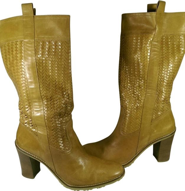Item - Tan Rust Brown Leather Woman's Knee-high Dress Casual 11m Boots/Booties Size US 11 Regular (M, B)