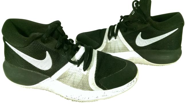 Item - Black W/White (Youth Boy's) Zoom Assersion Basketball Trainer Sneakers Size US 4 Regular (M, B)