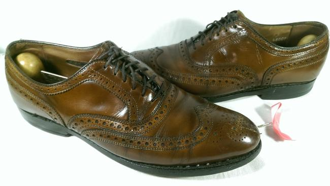 """Item - Rust Coffee Brown """"Mcallister"""" Men's Leather Dress Casual Wingtip Oxford 7 Shoes"""