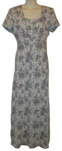 blue multi Maxi Dress by All That Jazz Vintage Maxi Floral Oneam001