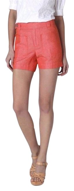 Item - Orange Patch Pocket Linen Shorts Size 4 (S, 27)