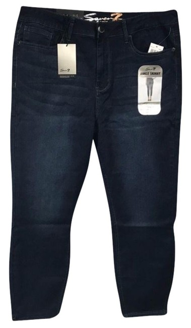 Item - Blue Ankle Skinny High Rise Capri/Cropped Jeans Size 16 (XL, Plus 0x)