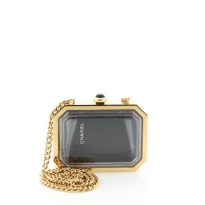 Chanel Plexiglass Black, Clear Clutch
