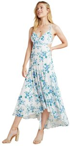 Anthropologie Maxi Polyester Cut-out High Low Dress