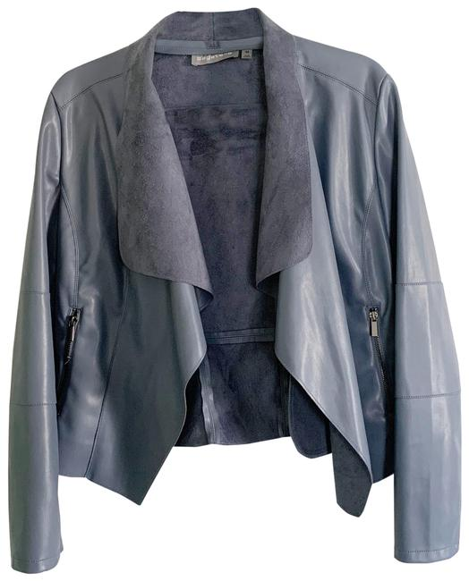 Item - Dusty Blue Faux Leather / M Jacket Size 8 (M)