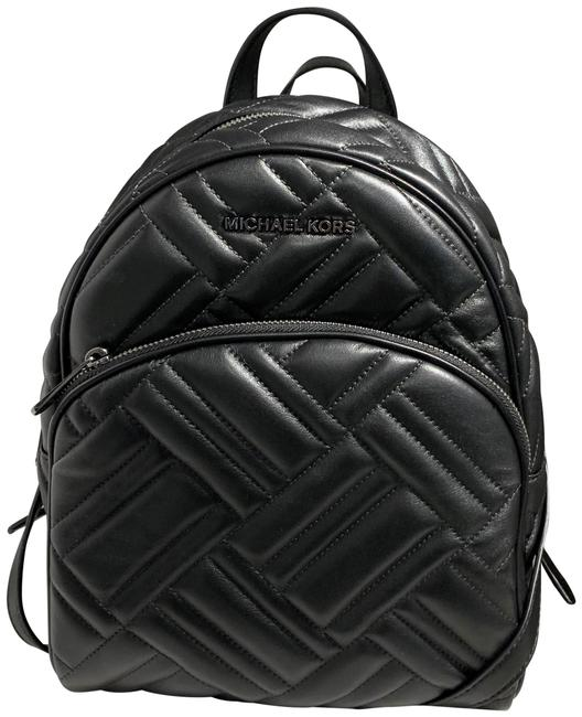 Item - Abbey Medium Quilted Black Leather Backpack