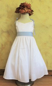 White / Blue 6609 Dress