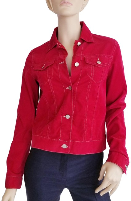 Item - Red Raspberry Corduroy Jacket Size 8 (M)