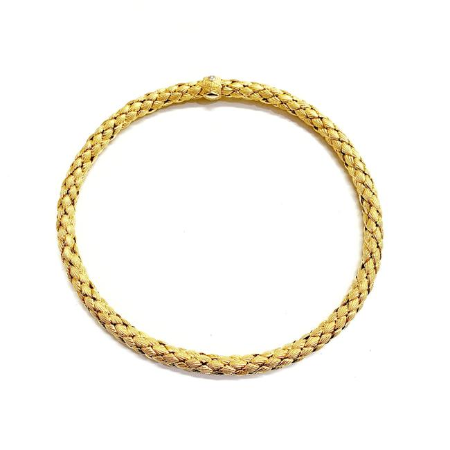 Item - Like New 18 Karat Yellow Gold Mesh Necklace