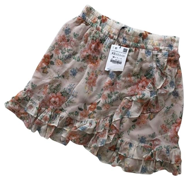 Item - Pink Floral Skirt Size 2 (XS, 26)