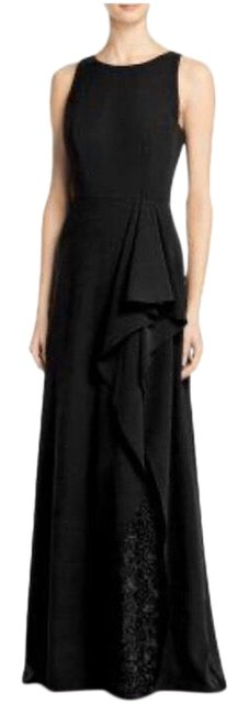 Item - Black Draped Gown In Long Formal Dress Size 0 (XS)
