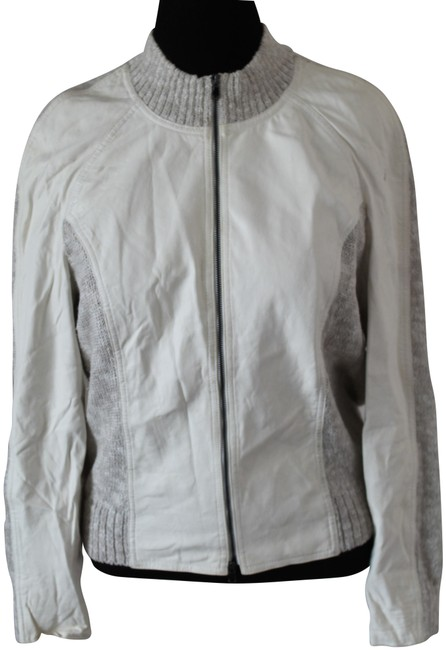 Item - Ivory Yellow Label Spring 2012 Contrast Jacket Size 12 (L)
