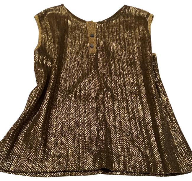 Item - Henley Style Gold Mettalic Top
