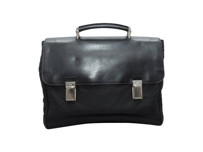 Item - Vintage Briefcase Black Nylon & Saffiano Leather Weekend/Travel Bag
