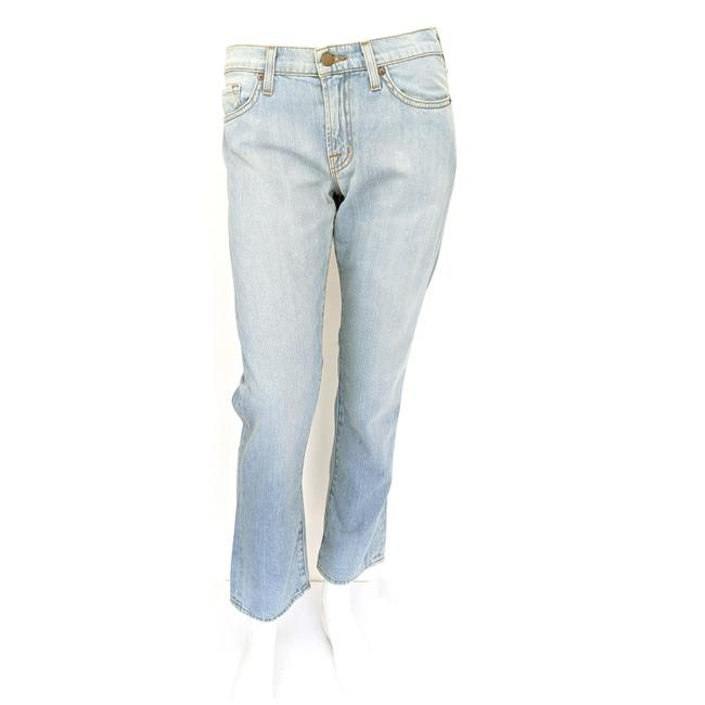 Item - Light Blue Wash Mid Rise Cropped Summer Straight Leg Jeans Size 25 (2, XS)