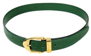 Louis Vuitton Reduced Price Louis Vuitton Green Epi Leather Gold Tone Belt