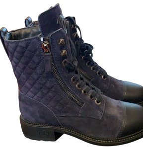 Chanel navy/black Boots