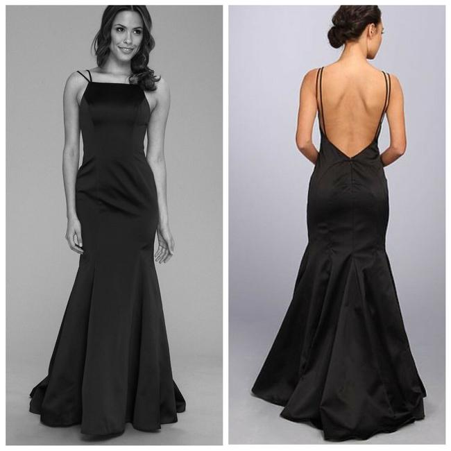 Item - Black Double Strap Open Mermaid Gown Long Casual Maxi Dress Size 2 (XS)