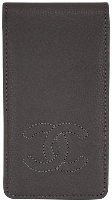 Item - Grey Vintage Iphone 4 Wallet Case Cc Logo Caviar