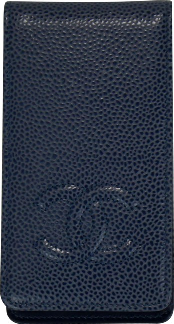 Item - Blue Vintage Iphone 4 Wallet Case Cc Logo Caviar