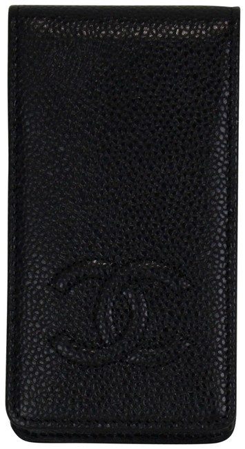 Item - Black Vintage Iphone 4 Wallet Case Cc Logo Caviar
