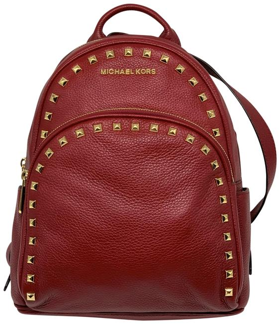 Item - Abbey Md Frame Out Studio Cherry Leather Backpack