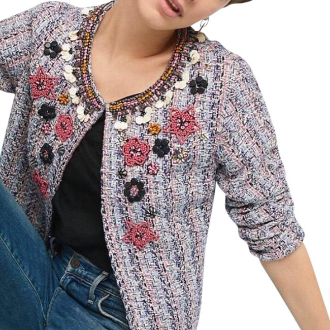 Item - Multi Pink XL Summer Of Love Beaded Tweed Jacket Blazer Size 14 (L)