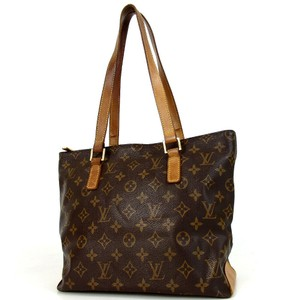 Louis Vuitton Tote in Brown Cabas Piano Print