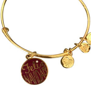 Alex + Alex Alex and Ani Feliz Navidad Holiday Gold Bracelet New