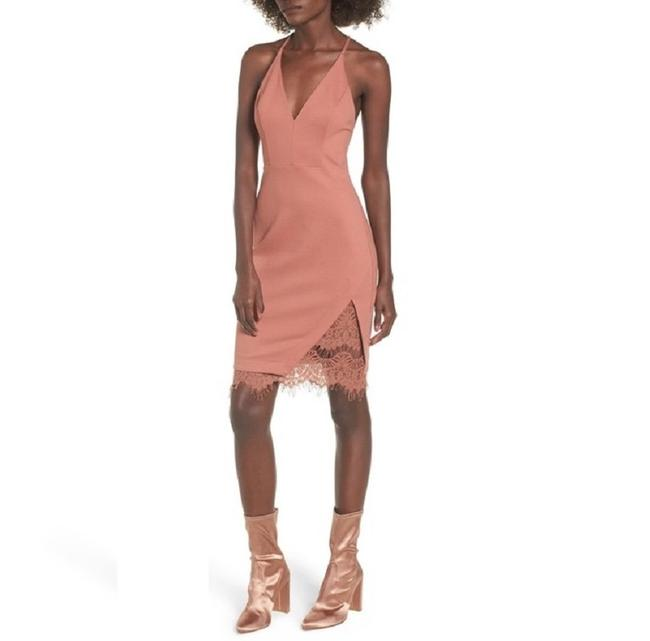 Item - Coral The Label Lace Body-con Mid-length Night Out Dress Size 8 (M)