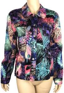 Erin London Tropical Theme Multicolor Jacket