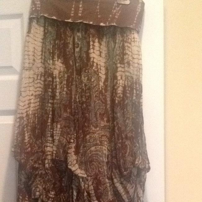 Solitare Skirt Brown Cream And Teal Colors