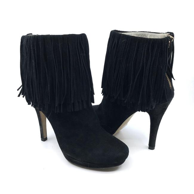 Item - Black Minnie Me Suede Fringe Ankle Boots/Booties Size US 6 Regular (M, B)