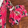 Cupio Pink Bell Sleeves Floral Short Casual Dress Size 8 (M) Cupio Pink Bell Sleeves Floral Short Casual Dress Size 8 (M) Image 4