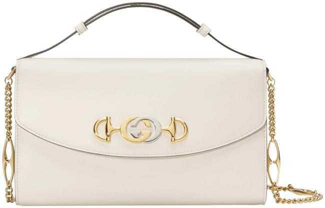 Item - Crossbody Zumi Small Gg Gold Logo Top Handle White Leather Shoulder Bag